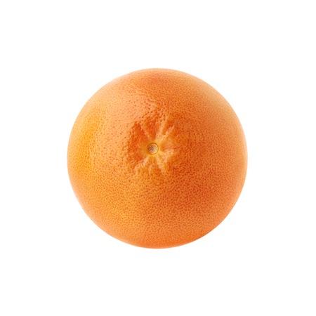 One fresh ripe grapefruit. Beautiful citrus isolated.