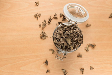 Dried funnel chanterelles Stock Photo