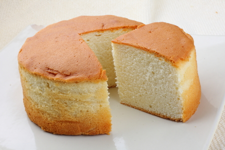 Fresh baked  sponge cake Stock Photo