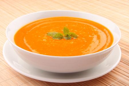 potage: Pumpkin cream  soup.