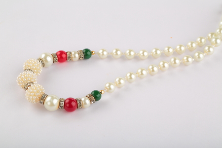 pearl necklace: Sea Pearl necklace in white background.