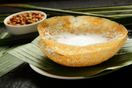 Healthy breakfast- appam served with currry