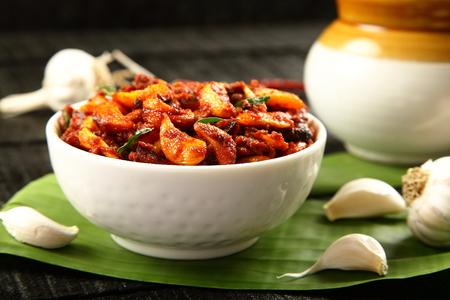 Indian fresh spicy  garlic pickle