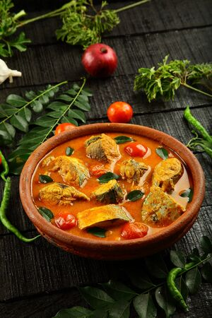 Homemade Goan fish curry with coconut milk.