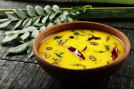 Tasty moru kachiyathu, puliserry from Kerala recipes. Imagens