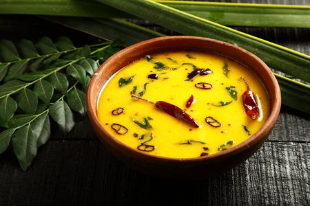 Homemade moru curry, puliserry from Kerala cuisine