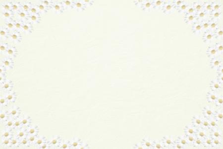 marguerite:  Light structured background with half transparent marguerite frame, background design