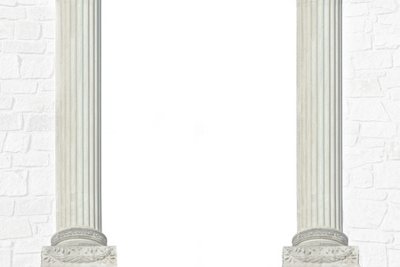 roman column: Roman pillars and masonry, architectural background in black and white with copy space