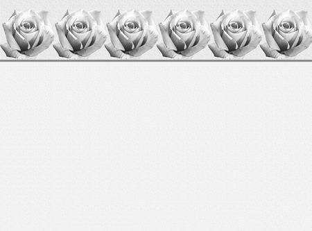 condolence: Sympathy card design with ornamental rose border in black and white