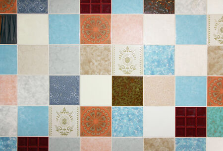 ���wall tiles���: background of mixed up wall tiles, in the laundry