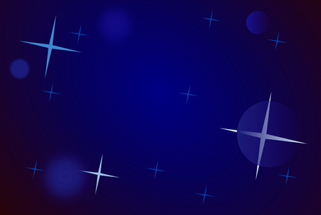 christmassy: Christmassy background in shades of blue, with stars and flares  Stock Photo