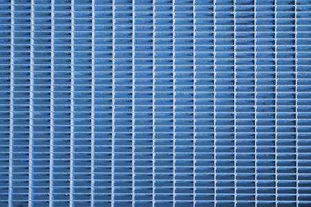 blue metal grid, background design photo
