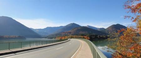 Bridge over lake sylvenstein, germany  photo