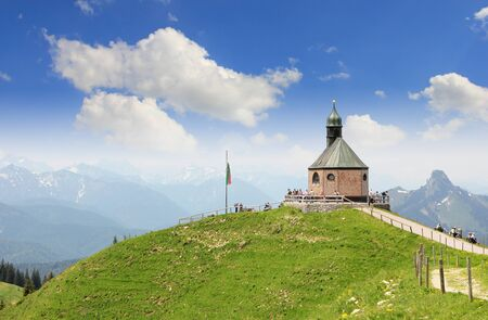 Little chapel on wallberg summit, region tegernsee, tourist attraction germany photo