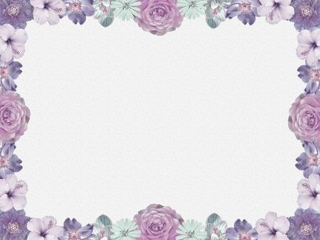 lila bloemen frame, nostalgische stijl