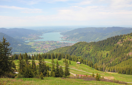 foothills: wallberg lookout point to bavarian alpine foothills  German landscape