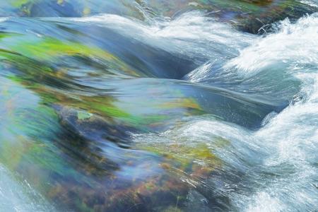 ストリーム急流の川で