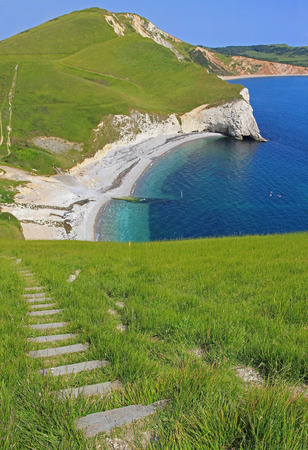 mupe bay: range walks, south west coast path near lulworth, dorset
