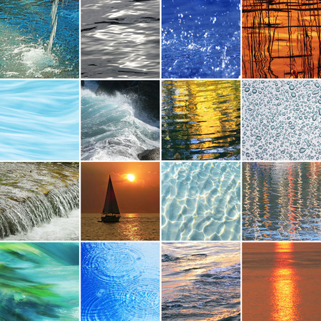 colorful water surface: collection of colorful water surface backgrounds Stock Photo
