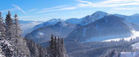 alpine winter landscape, upper bavaria