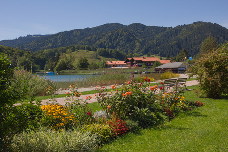 recreational area: recreational area, spa gardens schliersee with benches