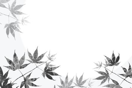 Zweig mit Ahornblätter und Blumenhintergrund, Sympathie Design