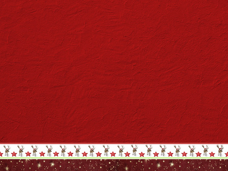 christmassy: xmas background - rough red painted wall and decorative christmassy border