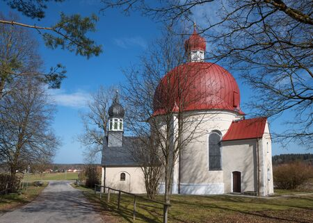 pilgrimage: pilgrimage chapel heuwinkl near iffeldorf, germany