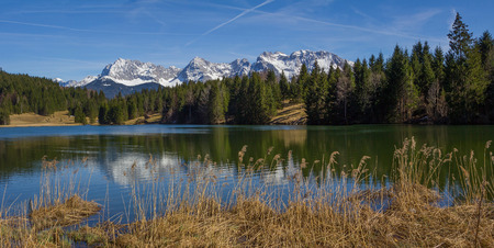pictorial: pictorial lake geroldsee in upper bavaria at springtime Stock Photo