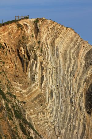 sedimentary: sedimentary rocks at lulworth coast, dorset Stock Photo