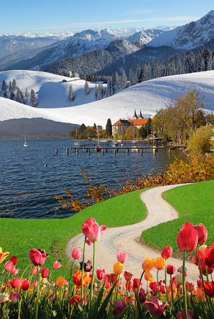 converged: four seasons collage - converged bavarian landscapes