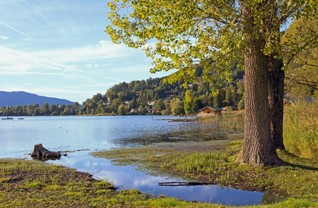 pictorial: pictorial lake shore rottach-egern, lake tegernsee, bavaria Stock Photo