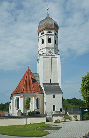 beautiful village church erling, upper bavaria
