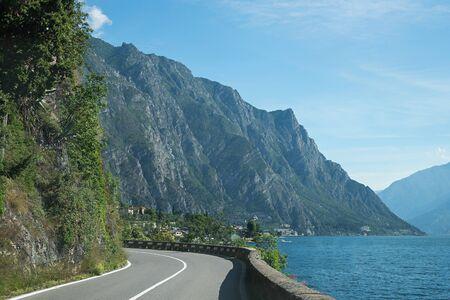 sinuous: sinuous quayside route along garda lake, italy