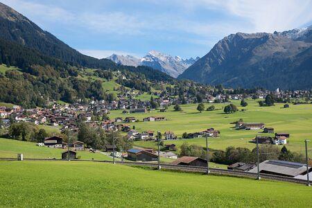 tourist resort: beautiful tourist resort klosters village, praettigau switzerland