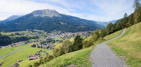 tourist resort: hiking route from Monbiel to monastery, tourist resort switzerland