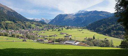praettigau valley and spa town klosters, swiss alps