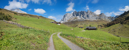 pictorial: pictorial hiking route to partnun in the swiss alps, prattigau area canton grisons