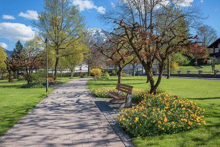 beautiful spa garden rottach-egern, tourist destination tegernsee, upper bavaria Stock Photo