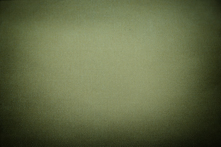 olive green hard-wearing canvas - textile background with dark edges