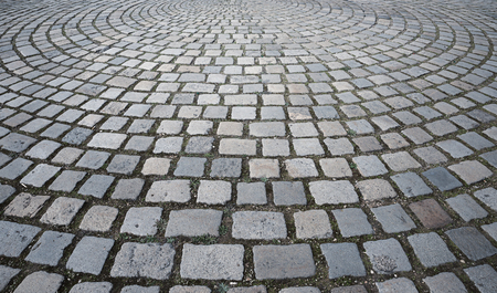 cobblestone pavement circular with granite stones outdoor Banque d'images - 120089002