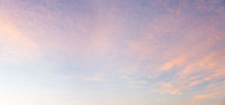 beautiful sunset sky with light pink clouds, background in pastel colors Standard-Bild