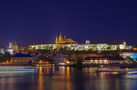 View of Prague Castle at night photo