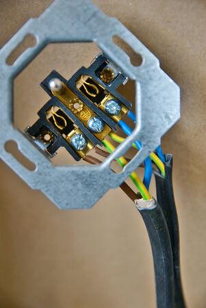 wall socket: Close up of wall socket before installing