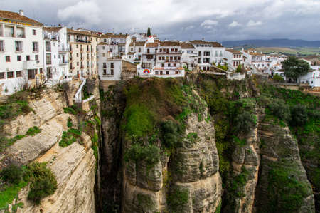 Ronda in Spain. Town on the cliffs. Historical landmark in Spain. Must see attraction in Andalusia.