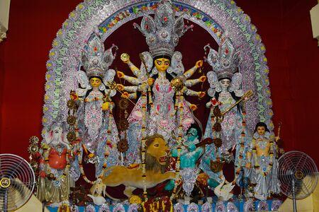 God Durga in Hindus Kolkata, India.