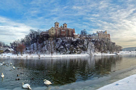 Benedictine Abbey on the rocky hill by the Vistula river in Tyniec near Cracow, Poland Stock Photo - 16483532