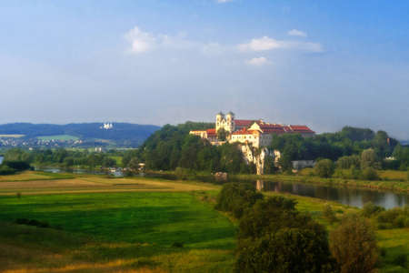 Benedictine Abbey on the rocky hill by the Vistula river in Tyniec near Cracow, Poland Stock Photo - 16483515