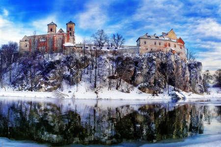 Benedictine Abbey by the Vistula river in Tyniec, near Krakow