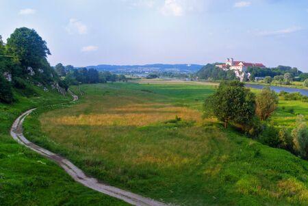 Benedictine Abbey on the rocky hill by the Vistula river in Tyniec near Krakow, Poland